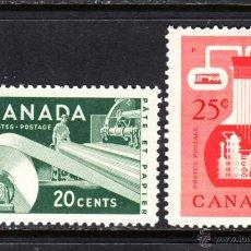 Sellos: CANADA 289/90** - AÑO 1956 - RECURSOS ECONOMICOS. Lote 50489062