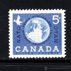 Sellos: CANADÁ 311** - AÑO 1959 - 10º ANIVERSARIO DE LA OTAN. Lote 108960402