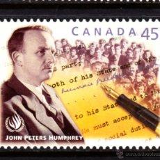 Sellos: CANADA 1615** - AÑO 1998 - HOMENAJE A JOHN PETERS HUMPHREY. Lote 50629922
