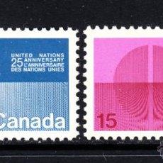 Sellos: CANADA 434/35** - AÑO 1970 - 25º ANIVERSARIO DE NACIONES UNIDAS. Lote 50939350