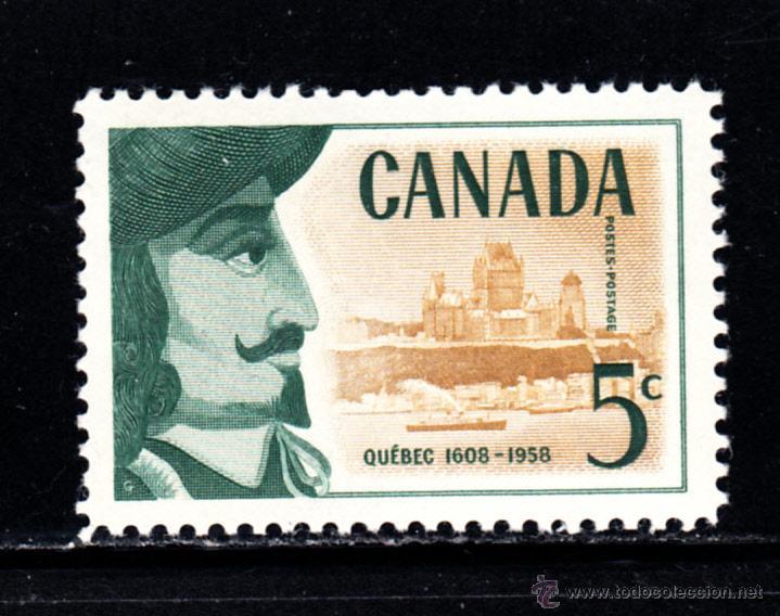 CANADÁ 306** - AÑO 1958 - 350º ANIVERSARIO DE LA CIUDAD DE QUEBEC (Sellos - Extranjero - América - Canadá)
