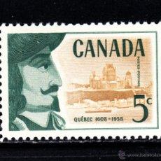 Sellos: CANADÁ 306** - AÑO 1958 - 350º ANIVERSARIO DE LA CIUDAD DE QUEBEC. Lote 51573694