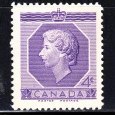 Sellos: CANADA 265** - AÑO 1953 - CORONACION DE LA REINA ISABEL II. Lote 52852066