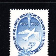 Sellos: CANADÁ 281* - AÑO 1955 - 10º ANIVERSARIO DE LA ORGANIZACIÓN DE AVIACIÓN CIVIL INTERNACIONAL. Lote 52852083