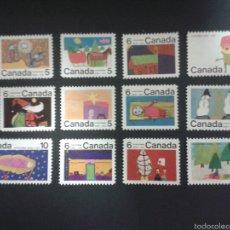 Sellos: SELLOS DE CANADÁ. NAVIDAD. DIBUJOS INFANTILES. YVERT 439/50. SERIE COMPLETA NUEVA SIN CHARNELA.. Lote 53408565