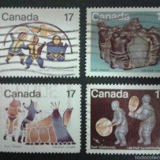 Sellos: SELLOS DE CANADÁ. YVERT 713/6. SERIE COMPLETA USADA.. Lote 54851449