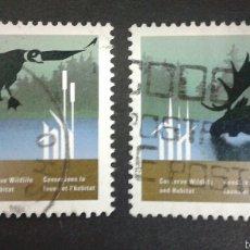 Sellos: SELLOS DE CANADÁ. FAUNA. YVERT 1036/7. SERIE COMPLETA USADA.. Lote 54851454