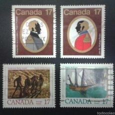 Sellos: SELLOS DE CANADÁ. YVERT 704/7. SERIE COMPLETA USADA. Lote 54851463
