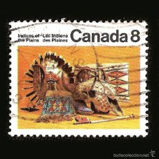 Sellos: CANADA - SELLO DE 8 CÉNTIMOS - INDIANS OF THE PLAINS - LES INDIENS DES PLAINES. Lote 58240288