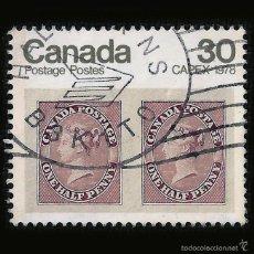 Sellos: CANADA - SELLO DE 30 CÉNTIMOS - REINA VICTORIA - CAPEX 1978 - HALIFAX - NUEVA ESCOCIA. Lote 58241809