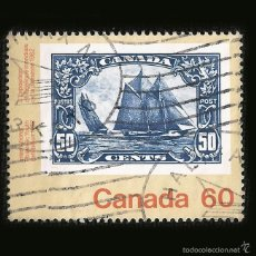 Sellos: CANADA - SELLO DE 60 CÉNTIMOS - INTERNATIONAL YOUTH EXHIBITION ISSUE BLUENOSE - 1982. Lote 58242338