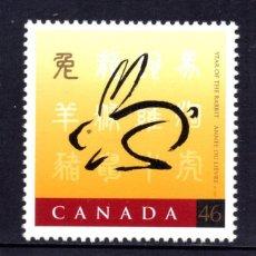 Sellos: CANADA 1630** - AÑO 1999 - AÑO LUNAR CHINO DE LA LIEBRE. Lote 58677035