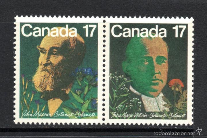CANADA 774/75** - AÑO 1981 - PERSONAJES - BOTANICOS CANADIENSES (Sellos - Extranjero - América - Canadá)