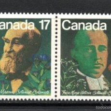 Sellos: CANADA 774/75** - AÑO 1981 - PERSONAJES - BOTANICOS CANADIENSES. Lote 59194540
