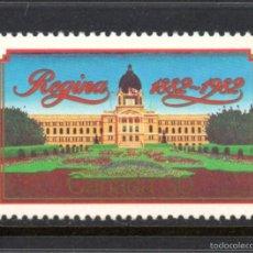 Sellos: CANADÁ 812** - AÑO 1982 - CENTENARIO DE LA CIUDAD DE REGINA . Lote 59194680