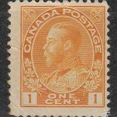 Sellos: CANADA 105 (AÑO 1912), EL REY JORGE V, NUEVO CON SEÑAL DE CHARNELA. Lote 67935191