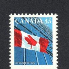 Sellos: CANADA 1545** - AÑO 1998 - BANDERA DEL CANADA. Lote 60034619