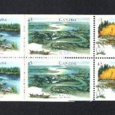 Sellos: CANADÁ CARNET 1359** - AÑO 1994 - PATRIMONIO NATURAL CANADIENSE - RIOS Y RIVERAS. Lote 60309715