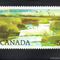 Sellos: CANADÁ 827** - AÑO 1983 - PARQUE NACIONAL DE POINTE PELEE. Lote 146701670