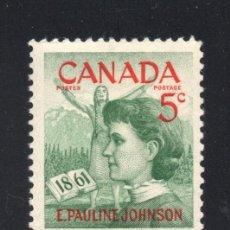 Sellos: CANADA 319** - AÑO 1961 - CENTENARIO DEL NACIMIENTO DE LA POETISA PAULINE JOHNSON. Lote 61871960