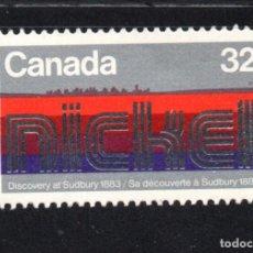 Sellos: CANADA 854** - AÑO 1983 - CENTENARIO DEL DESCUBRIMIENTO DE NICKEL EN SUDBURY. Lote 146701752