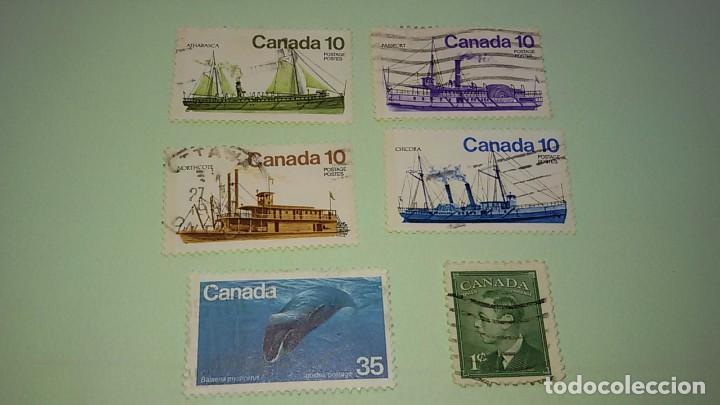 LOTE SELLOS CANADA AÑOS 70. CIRCULADOS (Sellos - Extranjero - América - Canadá)