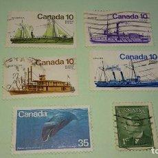 Sellos: LOTE SELLOS CANADA AÑOS 70. CIRCULADOS. Lote 62193320