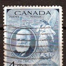 Sellos: CANADA 1947. I CENTENARIO NACIMIENTO ALEXANDER GRAHAM,INVENTOR TELEFONO. *,MH. Lote 63641115