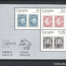 Sellos: CANADA HB 1** - AÑO 1978 - CAPEX 78, EXPOSICION FILATELICA INTERNACIONAL. Lote 65822790