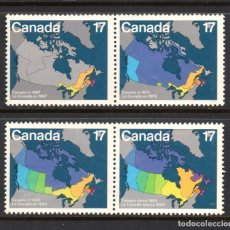 Sellos: CANADA 769/72** - AÑO 1981 - EVOLUCION DE CANADA - MAPAS. Lote 146701774