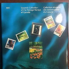 Sellos: (CF) CANADÁ 1991, LIBRO AÑO COMPLETO (**). Lote 68678565