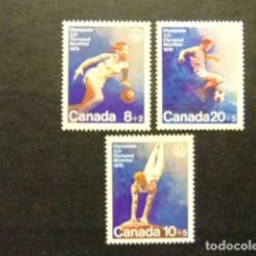 Sellos: CANADA 1976 JUEGOS OLIMPICOS DE MONTREAL JEUX OLYMPIQUES MONTREAL YVERT Nº 591 / 93 ** MNH. Lote 72174531