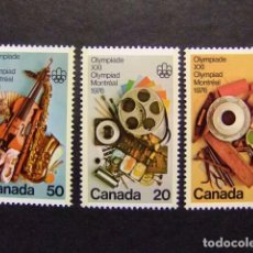 Sellos: CANADA 1976 JUEGOS OLIMPICOS DE MONTREAL JEUX OLYMPIQUES MONTREAL YVERT Nº 594 / 96 ** MNH. Lote 72174691