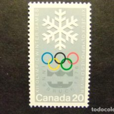 Sellos: CANADA 1976 JUEGOS OLIMPICOS DE MONTREAL JEUX OLYMPIQUES MONTREAL YVERT Nº 597 ** MNH . Lote 72174791