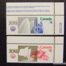 Sellos: CANADA 1976 JUEGOS OLIMPICOS DE MONTREAL JEUX OLYMPIQUES MONTREAL YVERT Nº 598 / 99 ** MNH. Lote 72174943