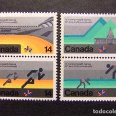 Sellos: CANADA 1978 XI JEUX DU COMMONWEALH À EDMONTON YVERT Nº 672 / 75 ** MNH. Lote 72175375