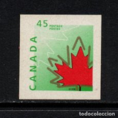 Sellos: CANADA 1560** - AÑO 1998 - SIMBOLOS DE CANADA - HOJA DE ROBLE. Lote 72952835