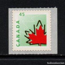 Sellos: CANADA 1560A** - AÑO 1998 - SIMBOLOS DE CANADA - HOJA DE ROBLE. Lote 72952923