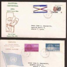 Sellos: SOBRE PRIMER DIA CANADA (3 SOBRES) AÑO 1970. Lote 74265315