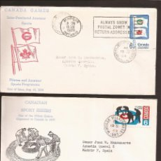 Sellos: SOBRE PRIMER DIA CANADA (3 SOBRES) AÑO 1969. Lote 74265555