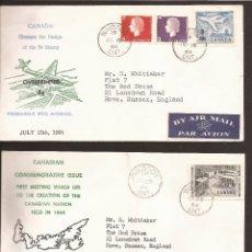 Sellos: SOBRE PRIMER DIA CANADA (3 SOBRES) AÑO 1964. Lote 74265923