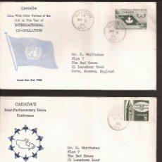 Sellos: SOBRE PRIMER DIA CANADA (3 SOBRES) AÑO 1965. Lote 74266007