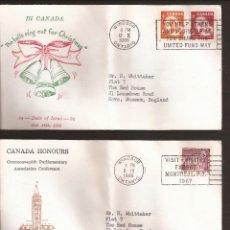 Sellos: SOBRE PRIMER DIA CANADA (3 SOBRES) AÑO 1966. Lote 74266063