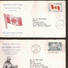 Sellos: SOBRE PRIMER DIA CANADA (3 SOBRES) AÑO 1965. Lote 74266111