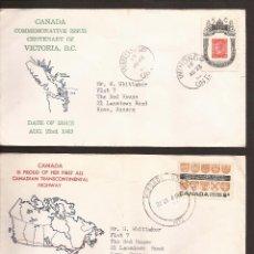 Sellos: SOBRE PRIMER DIA CANADA (3 SOBRES) AÑO 1962 Y 63. Lote 74266207