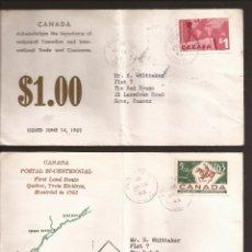 Sellos: SOBRE PRIMER DIA CANADA (3 SOBRES) AÑO 1963 Y 64. Lote 74266307