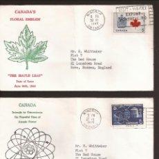 Sellos: SOBRE PRIMER DIA CANADA (3 SOBRES) AÑO 1966 Y 67. Lote 74266447