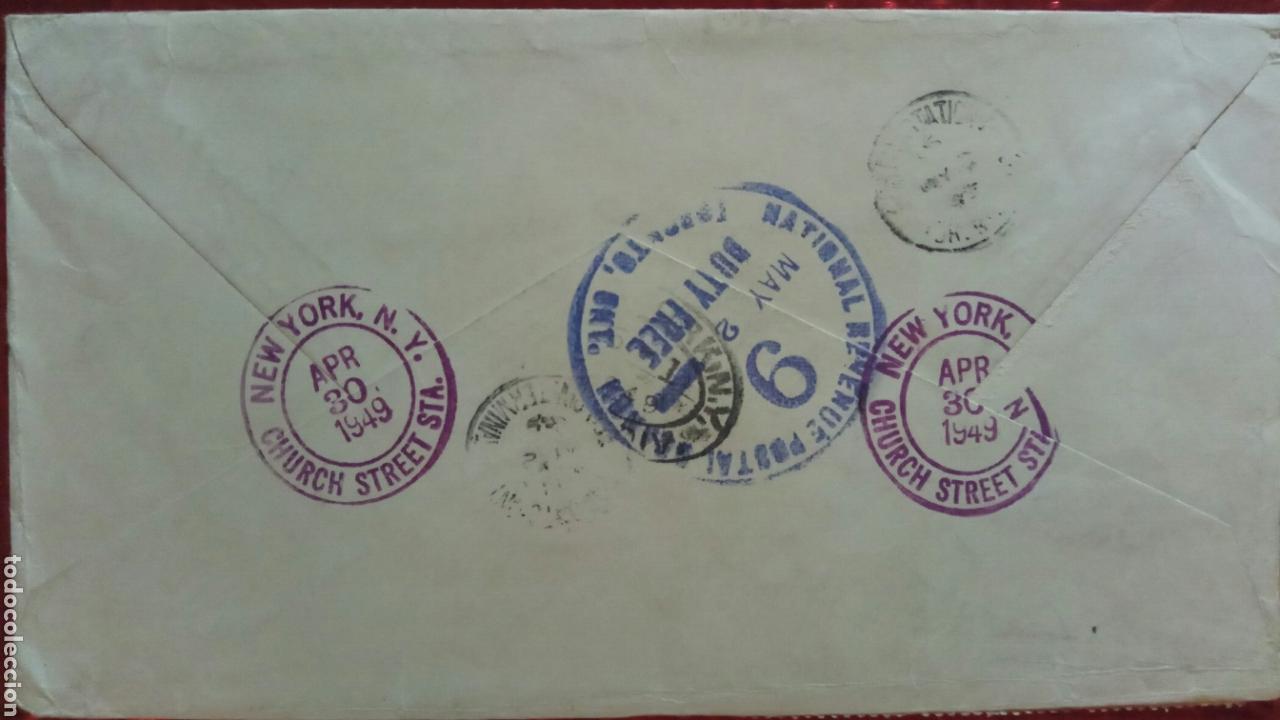 Sellos: USA sobre circulado 1949 a Canadá registred - Foto 2 - 75253703