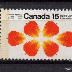 Sellos: CANADA 462A** - AÑO 1971 - RADIO CANADA INTERNACIONAL. Lote 76930445