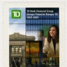Sellos: [CF6063] CANADÁ 2005, 150 ANIV. TD BANK (MNH). Lote 77642809
